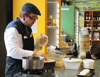 Recette polenta au chèvre pieds de mouton à l'ail et persil et vinaigre de xérès 2 #LCDADV