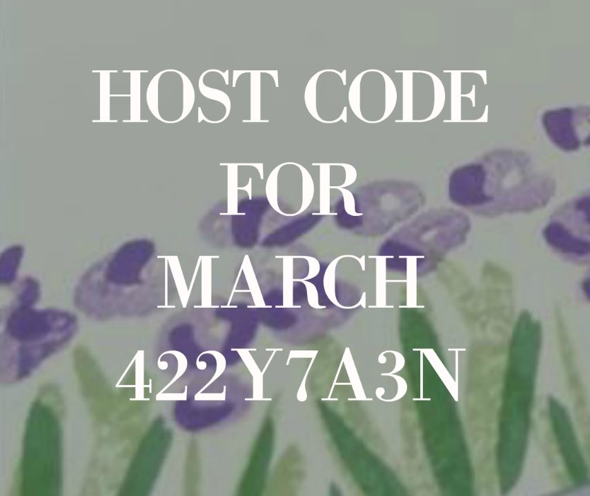 HOST CODE FOR MARCH 2019