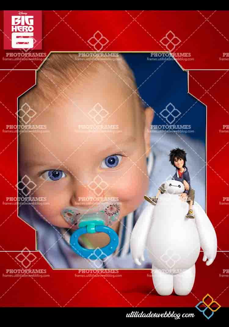 Bonito marco para fotos infantiles de Big Hero 6