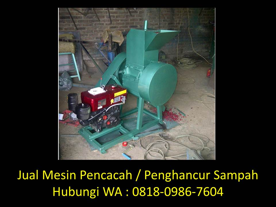mesin penghancur limbah di bandung