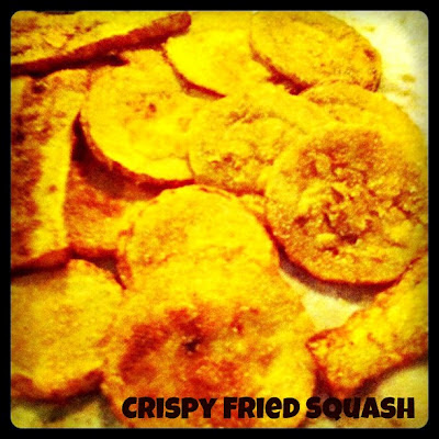 Crispy Fried Squash, golden outside, tender, meaty inside, fried squash is so simple and so delicious!