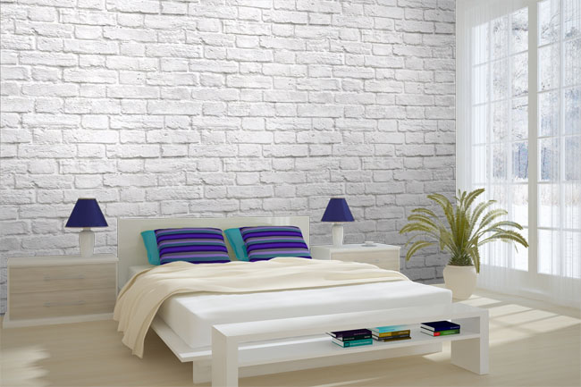 exposed brick wallpaper inspiration decorations pleasureable small bedroom inspirations small bedroom inspirations glamouristalia - Brick Wallpaper Bedroom Ideas