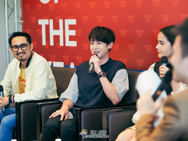 Brother Of The Year in Malaysia Press Conference #BrotherOfTheYearinMY #BrotherOfTheYear Nichkhun Sunny Suwanmethanont Urassaya director witthaya