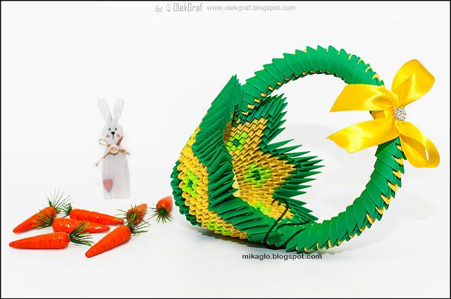 556. Koszyczek z origami / 3d origami basket