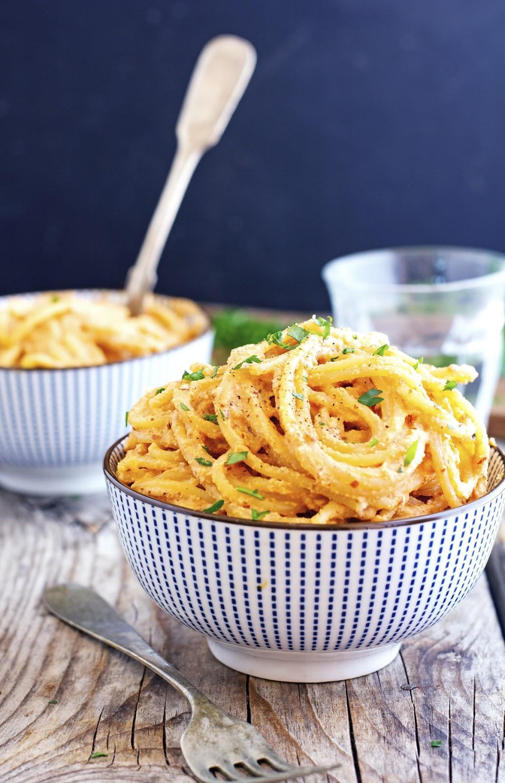 (Vegan) Creamy Chipotle Spaghetti
