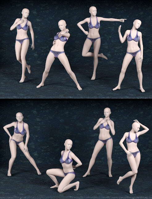 Diva Poses and Expressions for Genesis 3 Female
