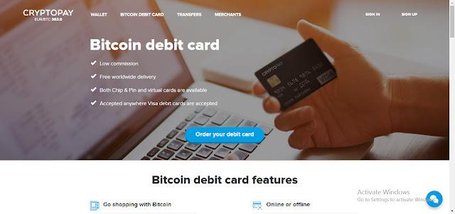 شرح التسجيل فى موقع Cryptopay وكيفية الحصول على فيزا كارد إفتراضيه مجانيه.