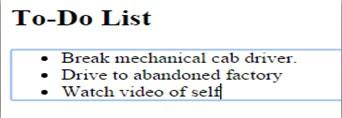 List-Output