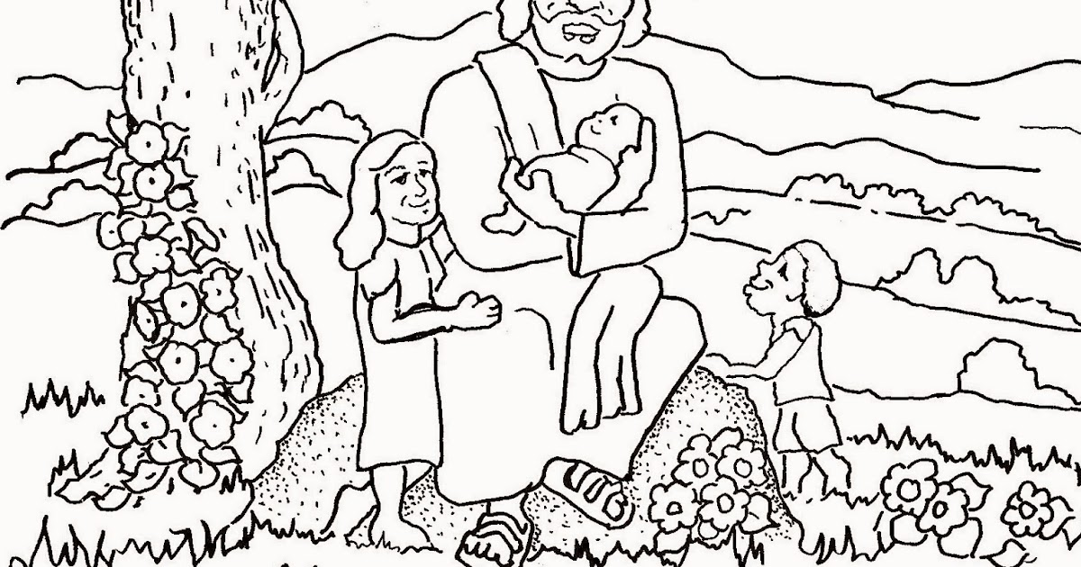 Coloring Pages for Kids by Mr. Adron: Jesus Blesses The