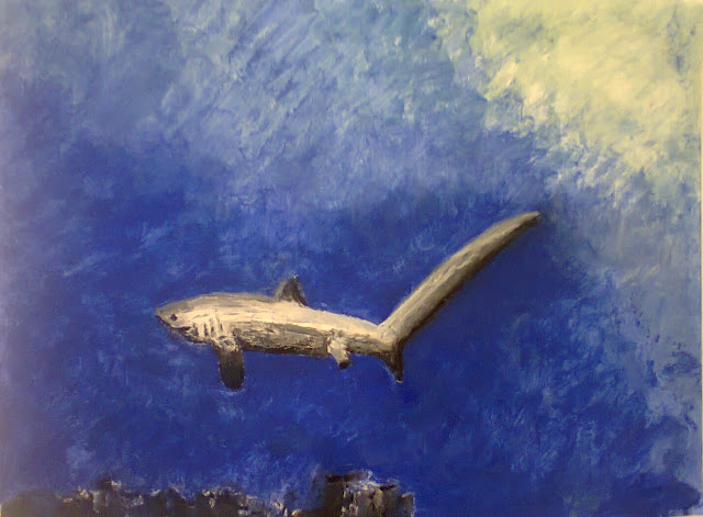 Painting of a Tresher Shark by Ellis Derkx