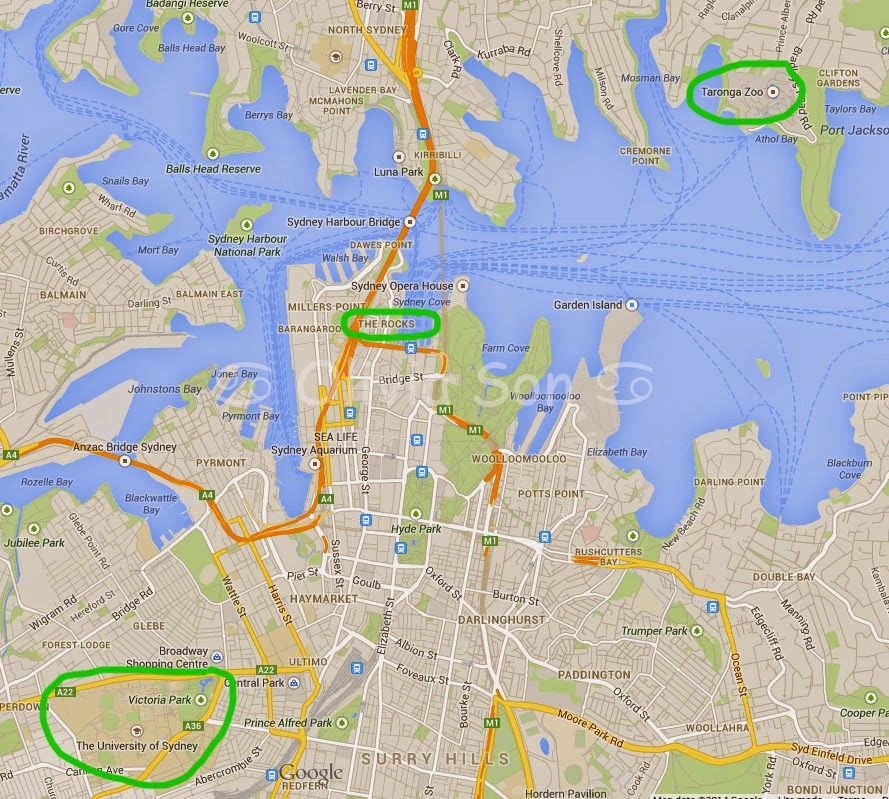 Carte, Sydney, Australie