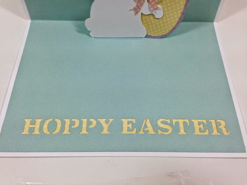 Cricut Artfully Sent Easter POP-UP card inside