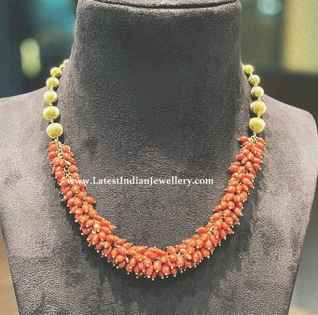Coral Gajra Necklace