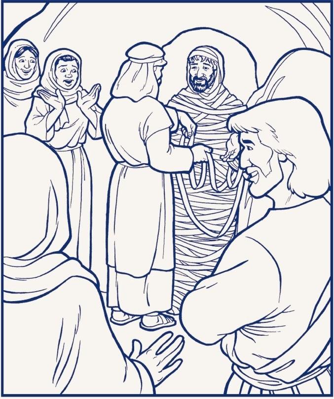 Imagenes Cristianas Para Colorear: La Resurreccion De