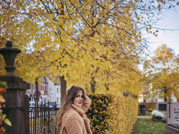 Outfit: teddy coat and velvet ankle boots + Shein discount code