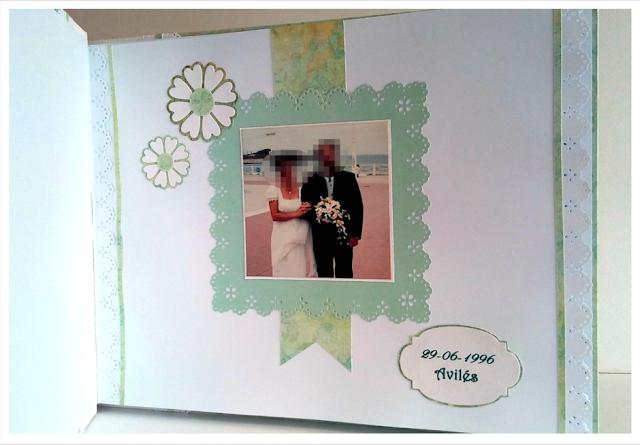 Libro de firmas para un 20º aniversario de boda