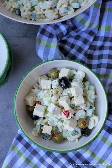 Leichter Tzatziki-Nudelsalat | Rezept | Essen | Kochen | Beilage | Grillen | Weight Watchers