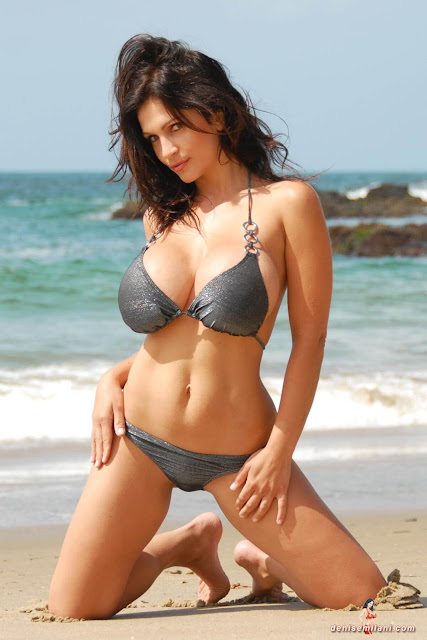 Denise-Milani-Beach-Silver-bikini-hottest-photoshoot-pics-21