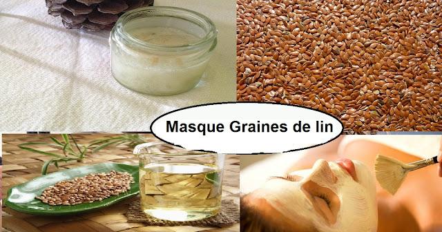 masque graines de lin