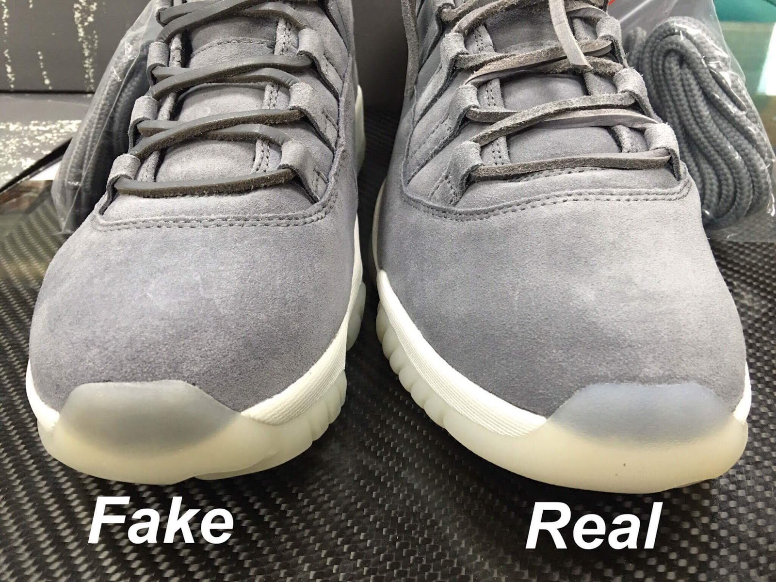 new style d3d81 67f61 Sean's Blog: Real vs Fake AIR JORDAN 11 RETRO PREM