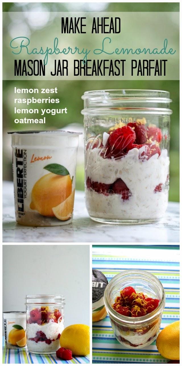 Make Ahead Raspberry Lemonade Parfait | thetwobiteclub.com | #yogurtperfection #makeahead #healthy #ad