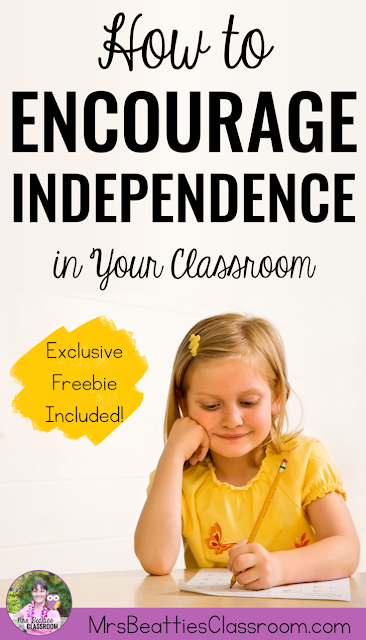Help your students develop independence in the classroom with the ideas and resources in this blog post! Learn how to effectively set up your learning space and manage classroom routines so the children in your class can manage without your constant help and guidance. Exclusive FREEBIE included!