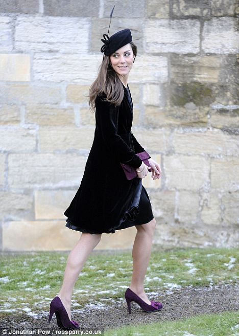 0851d528fabc Kate was seen at a friend s wedding last January in this chic ensemble. She  wore a black ISSA dress and Libélula velvet jacket. She topped off the  outfit ...