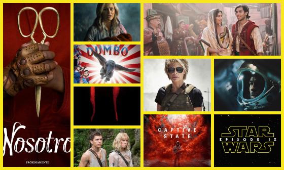 Las 10 Películas Más Esperadas de 2019 de Ciencia Ficcion, Fantasía y Terror