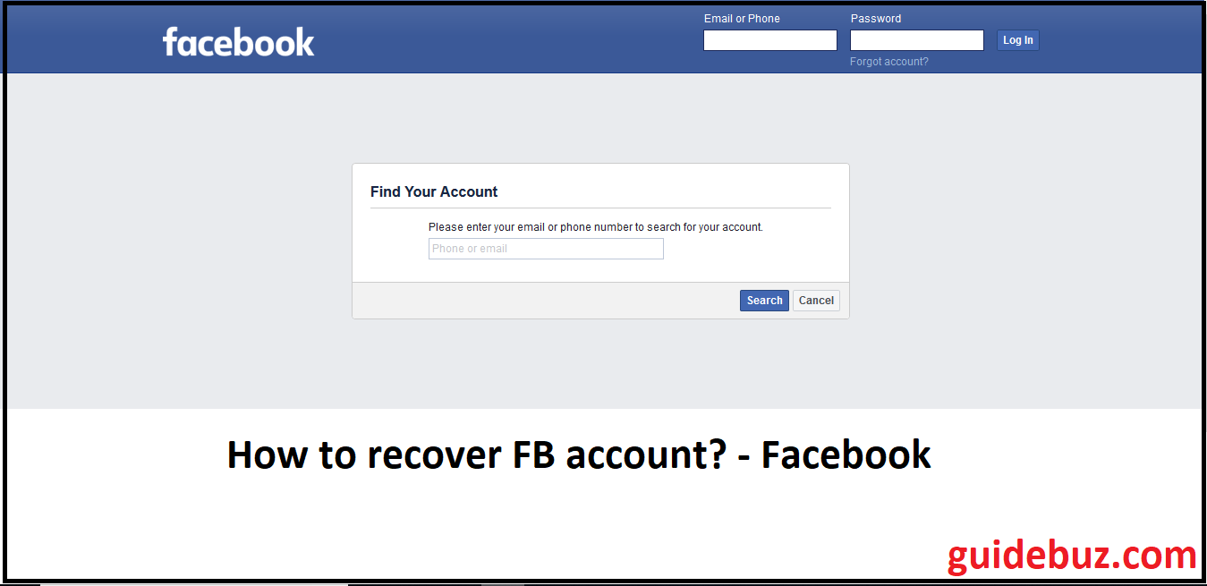It Supportnumber 1-888-264-6472: Recover your Facebook account by