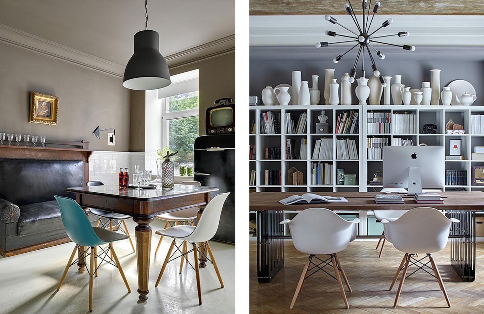 Interesting arredamento studio casa moderno casa ufficio con opere darte e arredi vintage by - Arredamento casa vintage ...