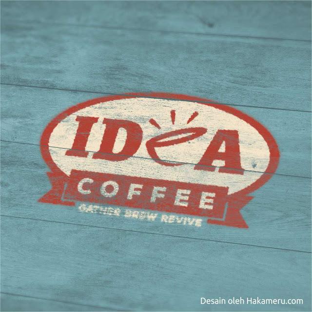 Desain logo untuk produk kopi minuman olahan dari biji kopi