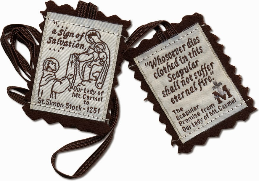 An image of the Brown Scapular.