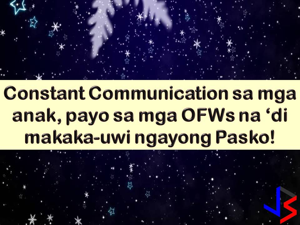For Overseas Filipino Workers (OFWs) working away from home or away from people you love is one of the saddest things to endure. The second one probably is celebrating Christmas in the foreign land without your family. Much worse if you are in the countries that do not celebrate Christmas like in the Middle East.  But aside from OFWs, their family too especially children are experiencing the same feeling. Maybe not to the extent feeling of loneliness, but Christmas and New Year Celebration without a mother or a father are not complete.