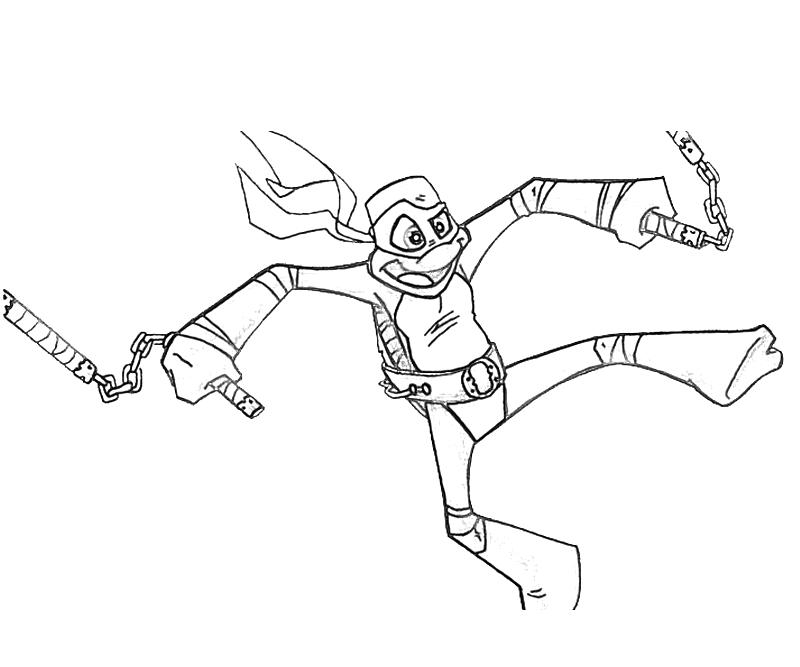 Free coloring pages of michael angelo