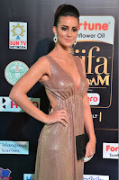 Lerisa Bonisa in a Sleeveless Deep neck Golden Gown ~  Exclusive 006.JPG