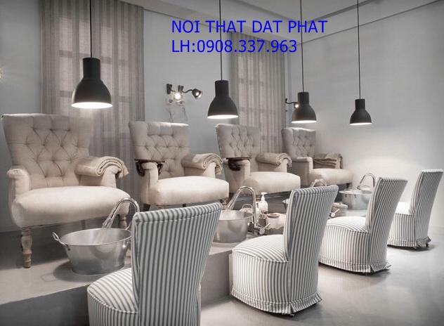 ghế nail, ghế sofa nail, ghế sofa nail giá rẻ, thiết kế tiệm nail