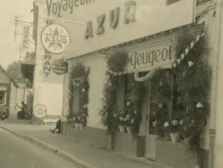 Garage Duceau à Cour-Cheverny en 1965