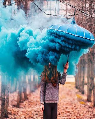 fotos con humo azul