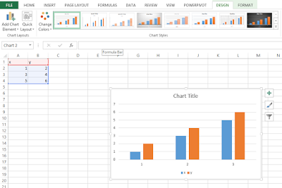 Creating charts through insert tab