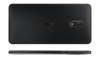 Nokia 6 back and side Black Matte