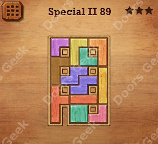 Cheats, Solutions, Walkthrough for Wood Block Puzzle Special II Level 89