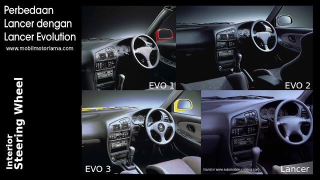 Perbedaan interior stir Lancer Evolution