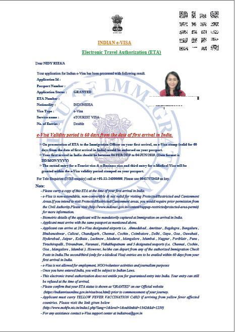 cara buat visa india secara online