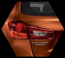 Stylish Exterior Mitsubishi Outlander Sport Medan