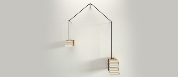 hanging bookshelves
