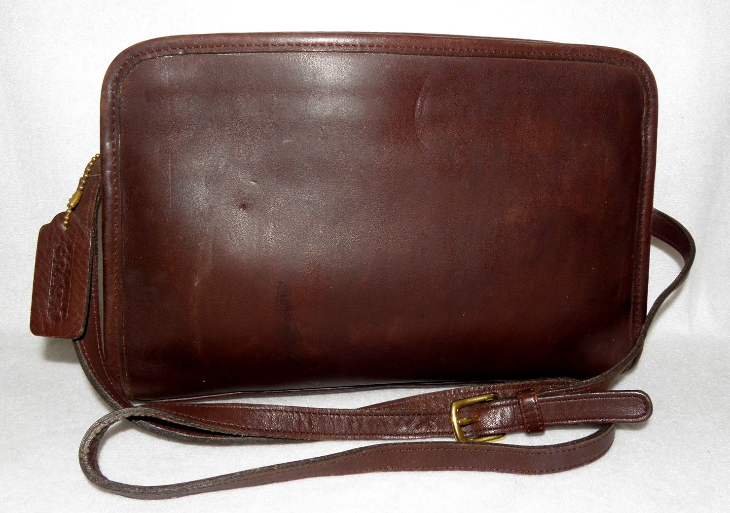 Brown Aged Leather Vintage Coach Purse
