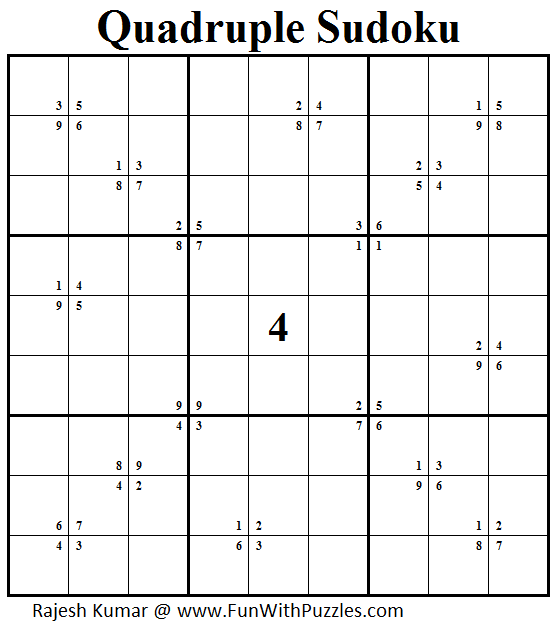 Quadruple Sudoku (Daily Sudoku League #157)