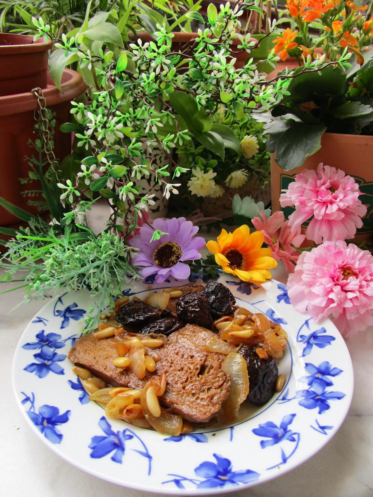Cocinar Fricando | Fricando De Seitan Con Ciruelas Y Pinones Carne Vegetal