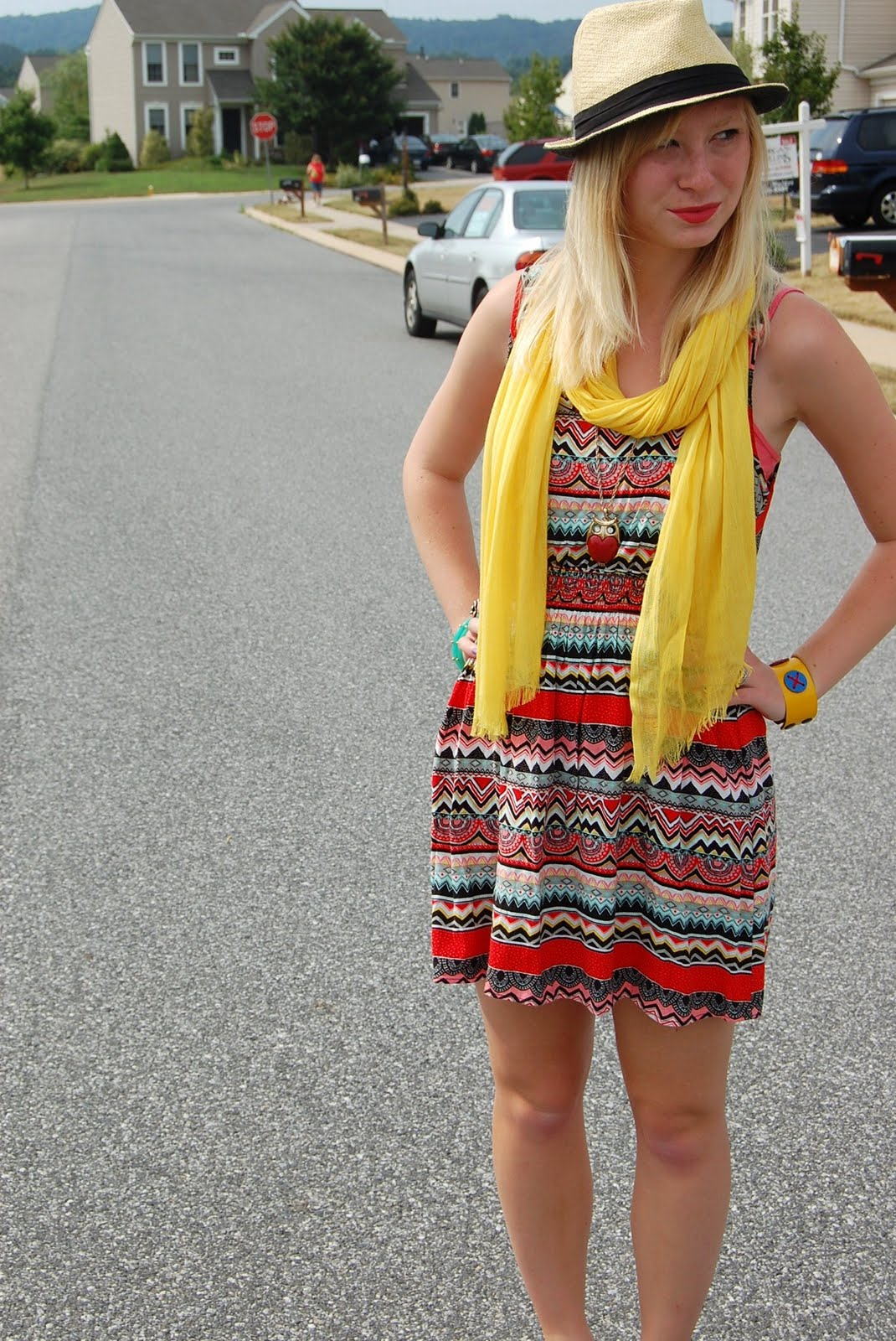 Patterned Sundress | Organized Mess