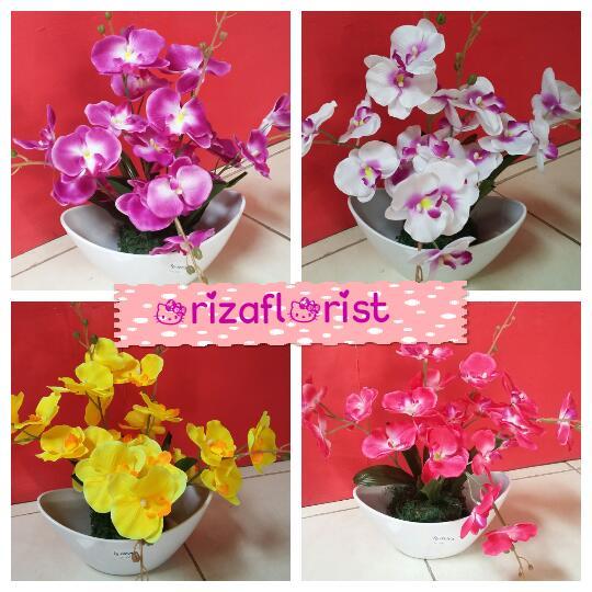 STANDING FLOWER  Bunga Artificial Anggrek Bulan 884365c756
